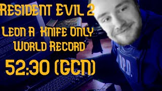 Resident Evil 2 - Leon A - Knife Only in 52:30 (World Record) GCN