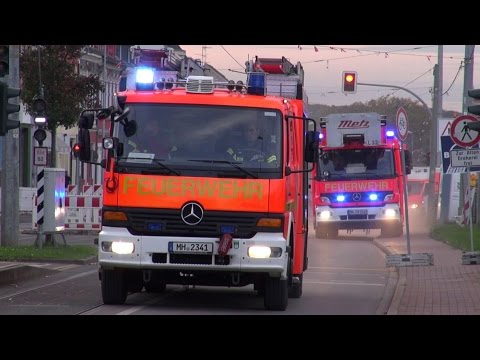 ELW E-Dienst + Löschzug + 2x RTW BF Mülheim a.d. Ruhr FW 1