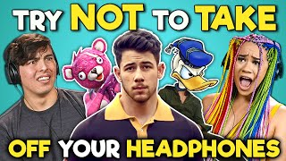 College Kids React To Try Not To Take Off Your Headphones Challenge #3
