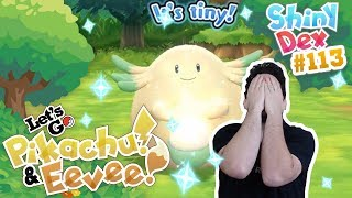 INSANELY RARE SHINY CHANSEY in POKÉMON LET'S GO PIKACHU AND EEVEE!