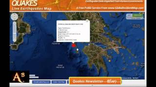 BREAKING NEWS - STRONG M6.5 QUAKE HITS KEFALONIA ISLAND GREECE 26TH JANUARY 2014