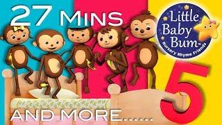 """Five Little Monkeys + Five Little Ducks + More """"Five Little"""" Nursery Rhymes   LittleBabyBum!"""