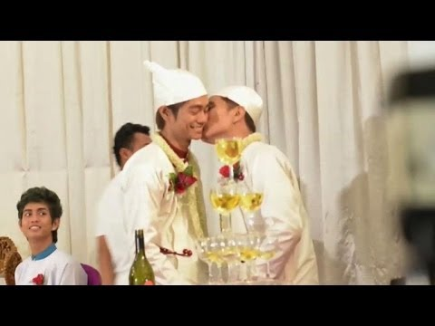 Myanmar Couple In 'first Public Gay Wedding Ceremony' video