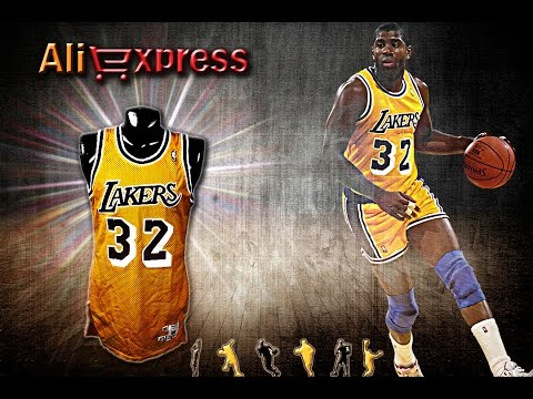 UNBOXING #4: AliExpress - Camisa Los Angeles Lakers 32 - Magic Johnson