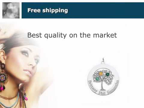 Sterling Silver Three Birthstone Family Tree Mother's Neckla