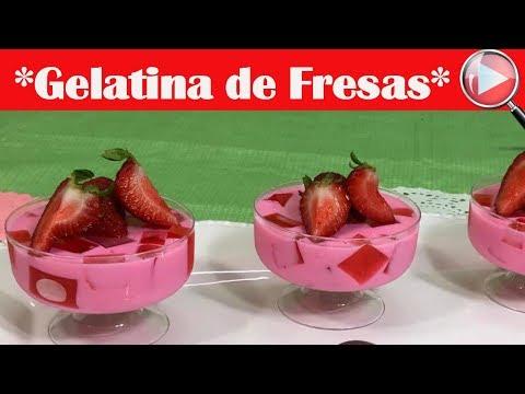 Gelatinas Individuales de Fresa en Agua y en Leche - Recetas en Casayfamiliatv
