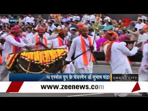Dr Subhash Chandra, Vasundhara Raje Attend Rajasthan Diwas Celebrations video