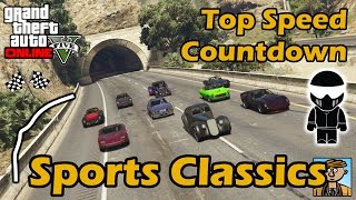 Fastest Sports Classics - Top Speeds Of Fully Upgraded Cars In GTA Online