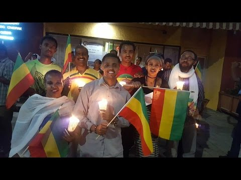 Ethiopia - The Ethiopian Community In Los Angeles Remembered Victims Of Ethiopian Protests