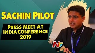 Sachin Pilot Press Meet At India Conference 2019 | NTV