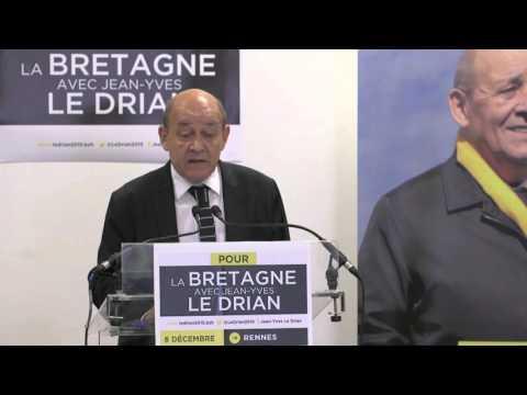 Déclaration de Jean-Yves Le Drian au soir du 1er tour