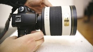 Weird lens reviews: Samyang 800mm f/8 Mirror, & 2x telecoverter (with samples)