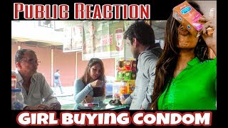 Girl Buying CONDOM | Public Reaction | Funny | 2020 | Being MastiHolic