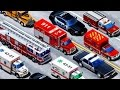 Emergency Vehicles - Learning Vehicles Names and Sounds | Police Car. Fire Truck. Rescue Trucks Kids