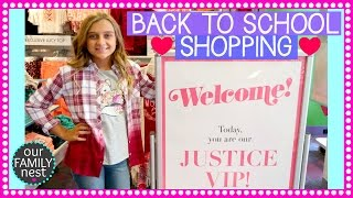 JUSTICE BACK TO SCHOOL VIP SHOPPING EXPERIENCE