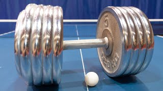 Playing Ping Pong with a 50kg Dumbbell I Pongfinity