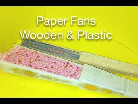 Paper Fans Wooden & Plastic