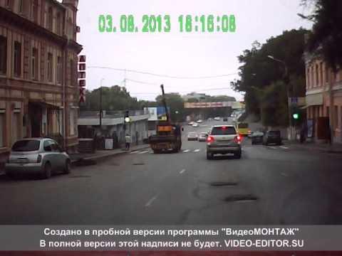 ДТП Грузовик оборвал провода ост. Гайдамак г. Владивосток