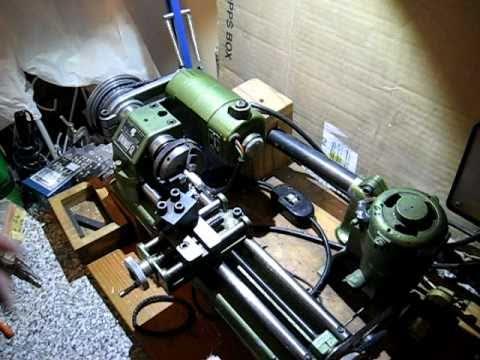 Unimat sl lathe machining aluminum