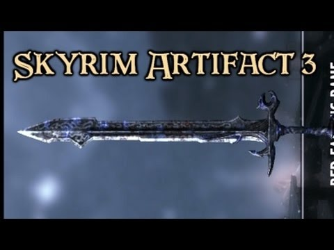 Skyrim Artifact: Red Eagles Bane. Fiery 2-handed Sword.