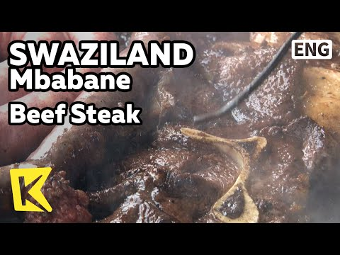 【K】Swaziland Travel-Mbabane[스와질란드 여행-음바바네]신선한 쇠고기 스테이크/Beef Steak/Butcher Shop/Village/Meat