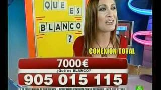 Raquel Gomez (GH10) en Call TV - Que es blanco.avi