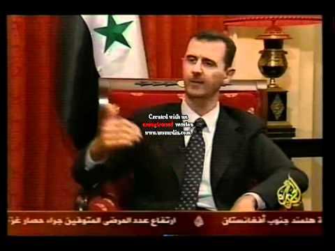 تظن ان بشار يدافع عن فلسطين إسمع ما يقول هو بنفسه ...!!!