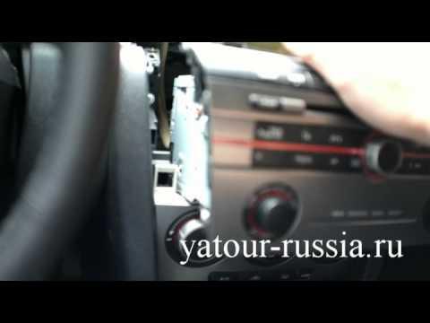 Видео как снять магнитолу Мазда 3