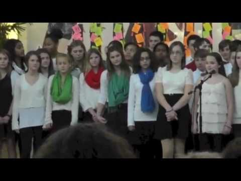 Whitefish Bay, WI Middle School 7th Grade Choir at Bayshore Town Center on December 17, 2012