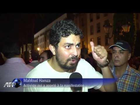 Maroc manifestation contre la grace d'un pedophile espagnol