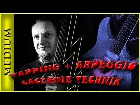 Lekcje gry na gitarze Tapping Arpeggia Łączenie technik