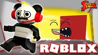 DON'T GET CRUSHED BY A SPEEDING WALL IN ROBLOX! Let's Play with Combo Panda