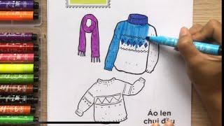 Đồ chơi tô màu trang phục Việt Nam phần 1, tớ là họa sĩ - Coloring clothes toys kids (Chim Xinh)