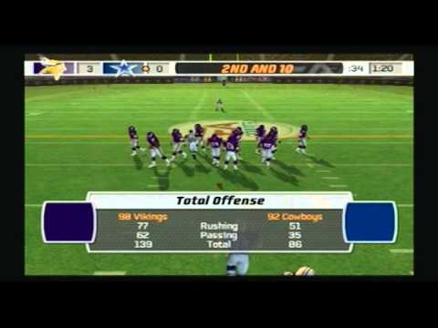 Madden NFL 07 Historic Tournament Championship 1998 Minnesota Vikings vs 1992 Dallas Cowboys Video Game Simulation Video Game Video Game Genre PlayStation 2 ...