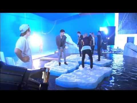 The Wanted BTS on the set of their Ice Age: Continental Drift Chasing The Sun video Music Videos