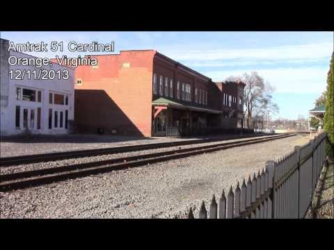 Amtrak 51 Cardinal thru Orange, Virginia