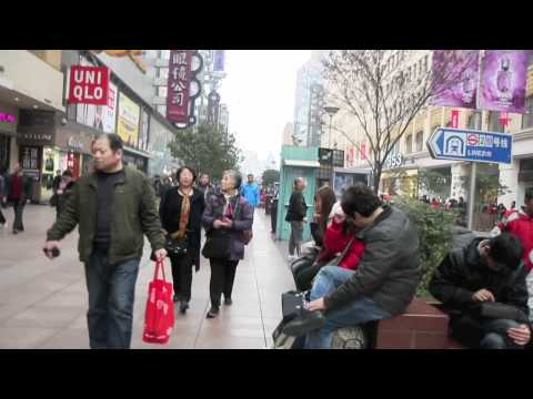 Walking Nanjing Road, Shanghai, China HD