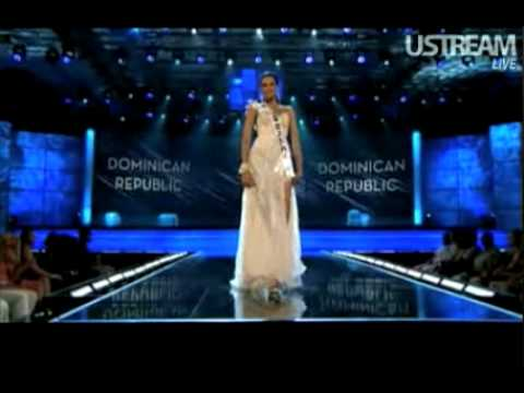miss dominican republic preliminary evening gown