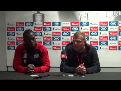 AUFC Press Conference : FFA Cup Post Match - Adelaide United v Brisbane Roar - 23/09/14