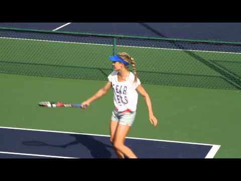 Eugenie Bouchard Practice 2015 BNP Paribas Open Indian Wells