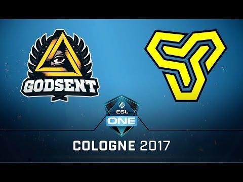 CS:GO - Godsent vs. Space Soldiers [Cbble] Map 1 - Semifinal - ESL One Cologne 2017 EU Qualifier