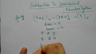 hex subtraction