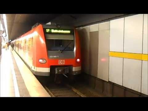 S-Bahn München - Züge im S-Bahnhof Rosenheimer Platz