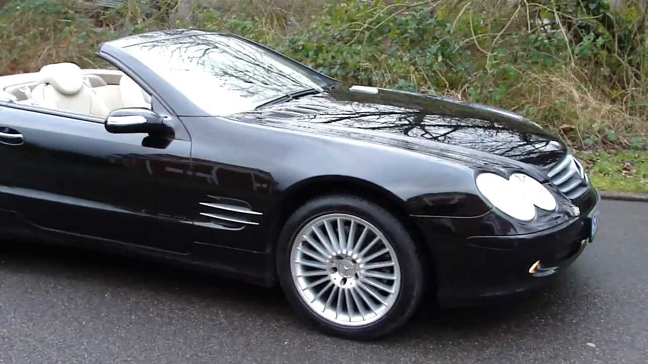 2004 MERCEDES SL500 CONVERTIBLE AUTO OBSIDIAN BLACK PANORAMIC ROOF - YouTube