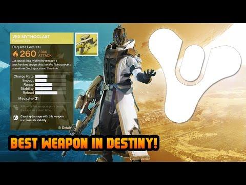 Destiny best weapon gameplay level 29 warlock vex mythoclast destiny