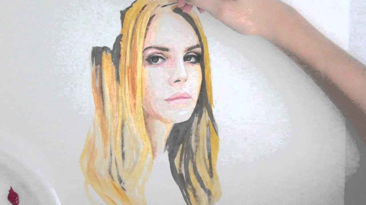 Speed Painting : Lana Del Rey (watercolor) - YouTube