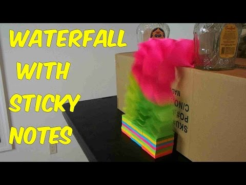 Waterfall With Sticky Notes Experiment video