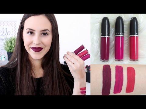 Mac Retro Matte Liquid Lipstick   Review/Lip Swatches - 10h wear