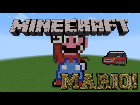Minecraft-Como fazer o Super Mário(pixel art)