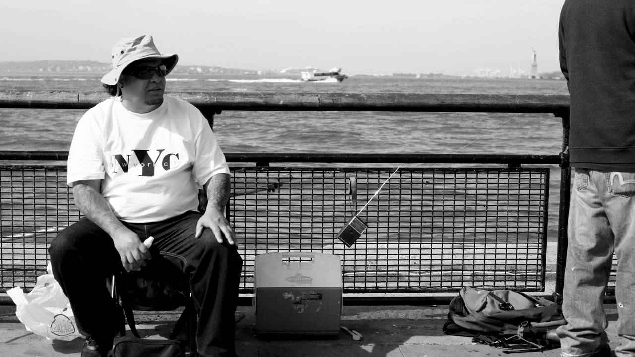 Urban fishing battery park new york city youtube for New york out of state fishing license